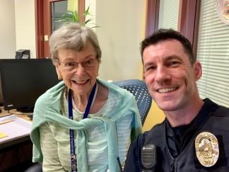 Officer McGuigan and Marlene Snyder